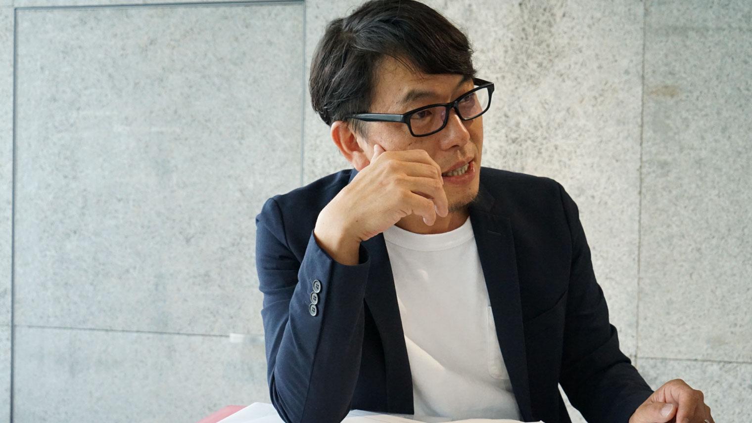 プロダクトデザインを担当した細田 育英
