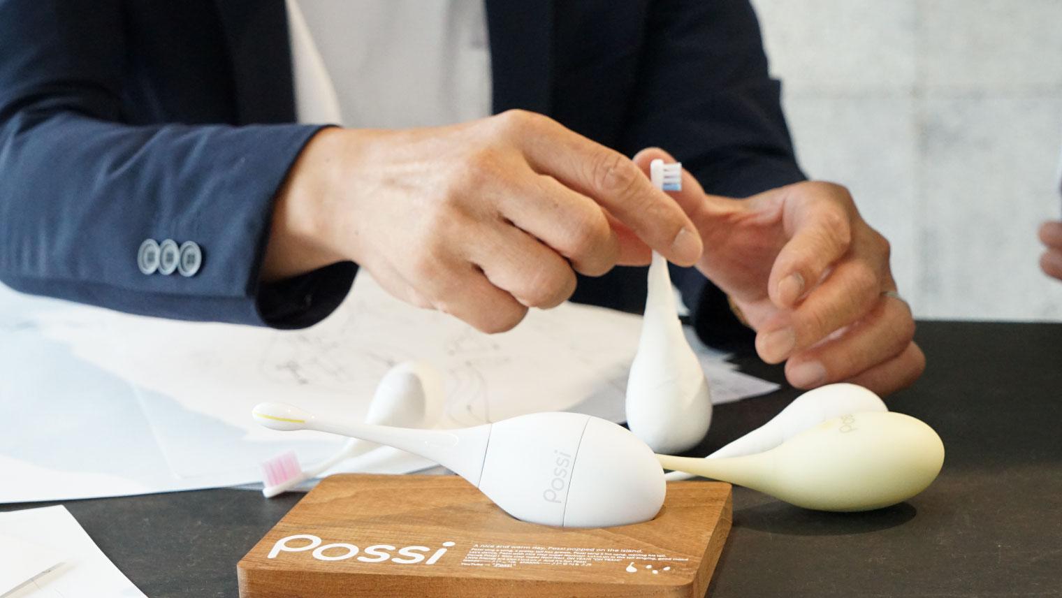 紙粘土でつくったPossiの原型