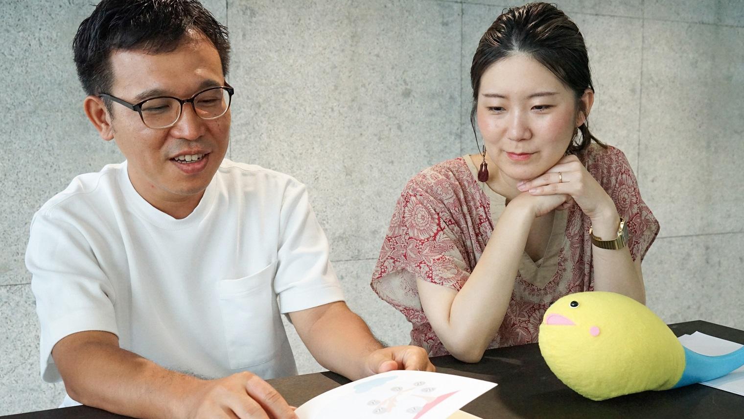 コミュニケーションデザインを担当した城ヶ野と鈴木