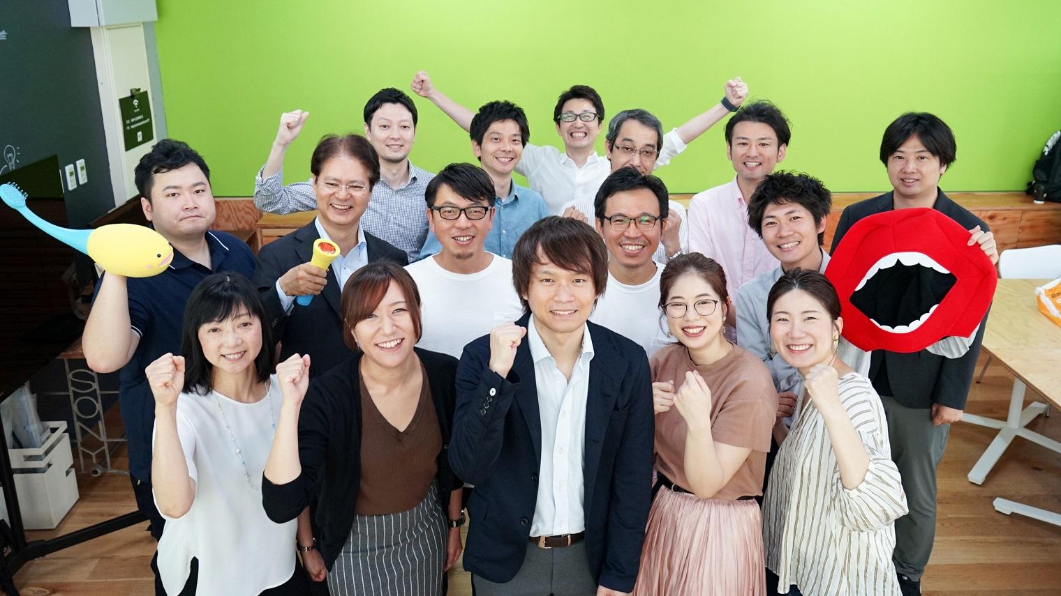 Possiプロジェクトに関わった京セラ株式会社・ライオン株式会社・ソニーのメンバー集合写真