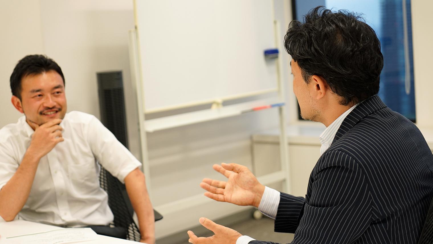ソニー株式会社Startup Acceleration部門副部門長の小田島、株式会社アイスタイル代表取締役社長 兼 CEO 吉松徹郎さん