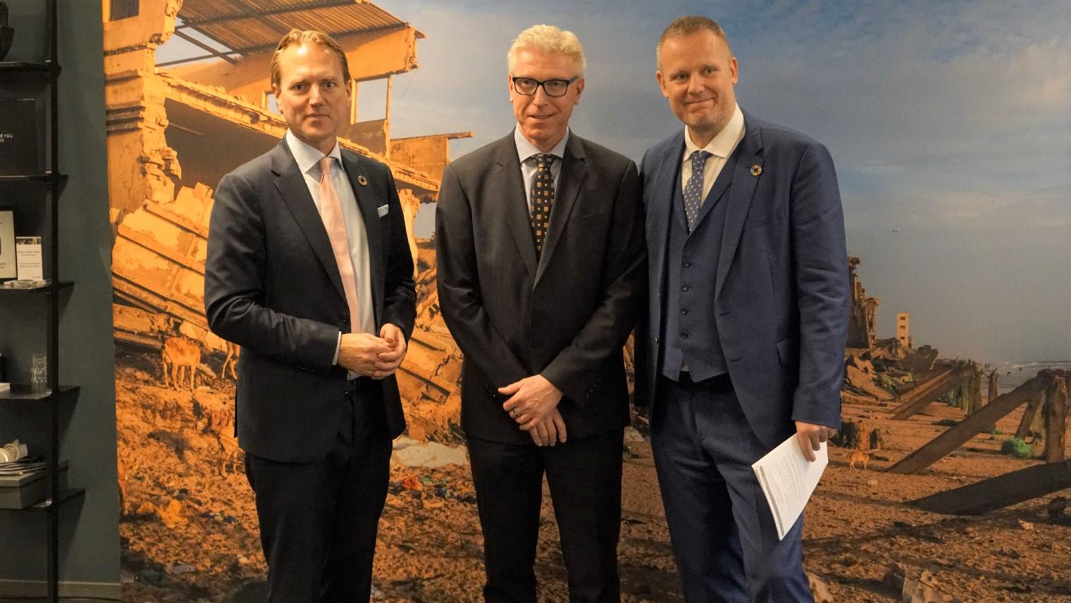 左より、SSAP Europe:アンダース・アールグレン、ソニー Lund Site:ステファン・アンダーソン、UNOPS:ヨナス・スヴェンソン