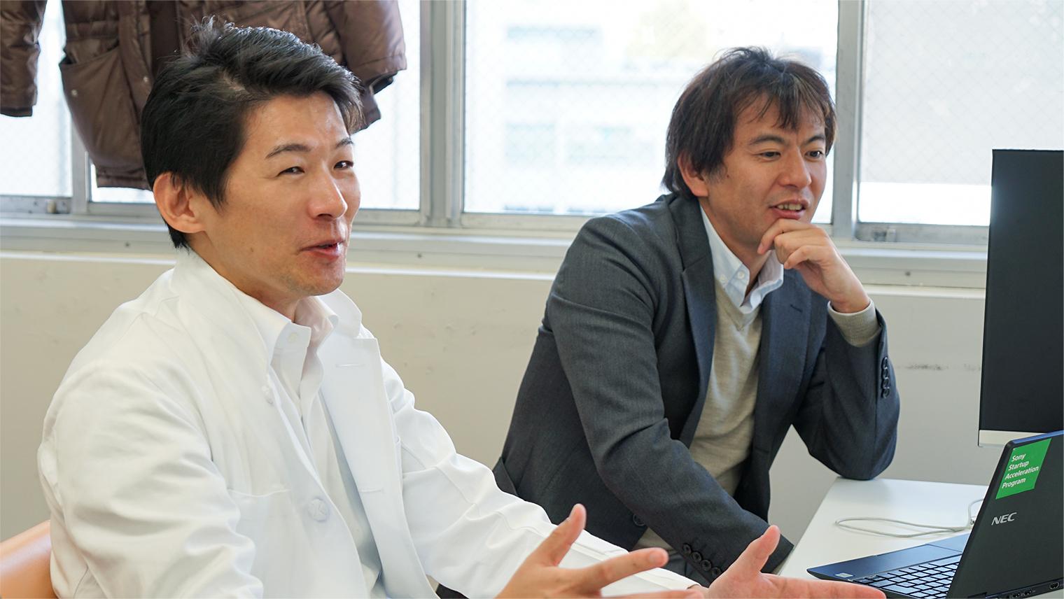 株式会社グレースイメージング 代表取締役CEOの中島大輔さんと取締役COOの林田大造さん