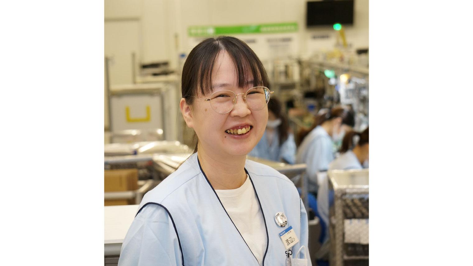 ソニー・太陽  プロダクトビジネス部製造1課 渡辺ひとみ