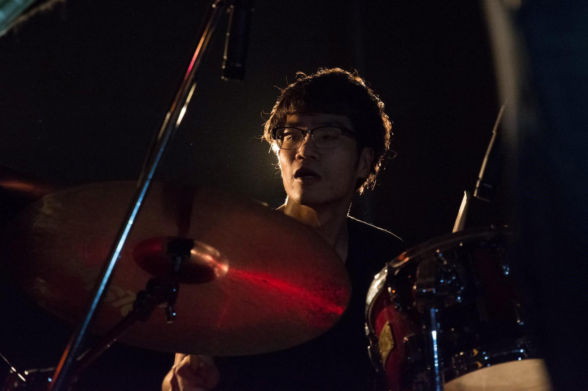 バンドでドラムを担当するSSAPアクセラレーター沼田