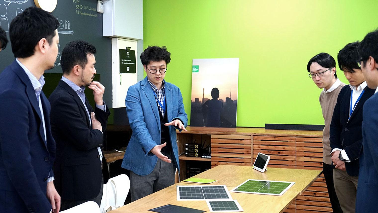 京セラのプロジェクトメンバーとSSAPによるディスカッションの様子(2020年2月撮影)