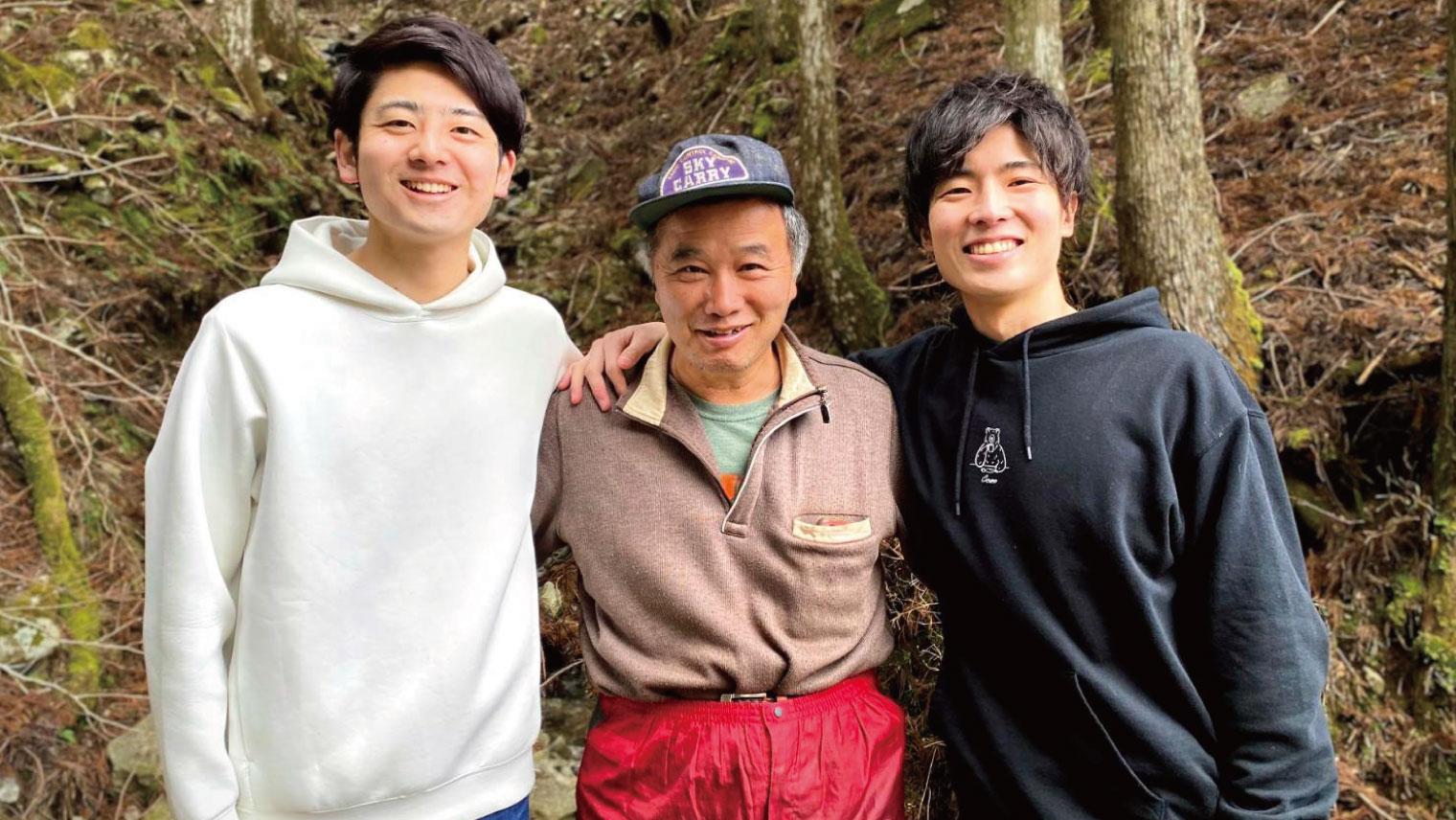 内山さん、林業家・三浦妃己郎さん、共同代表 陣脇康平さん