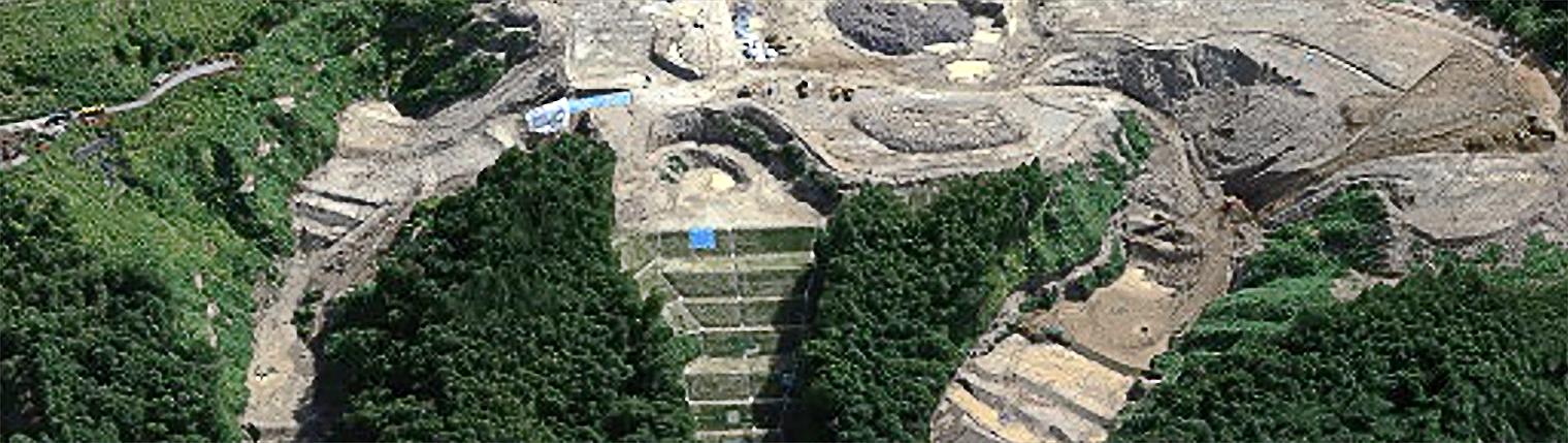 佐藤工業株式会社の事例でエアロボマーカーを使用し撮影したデータの写真